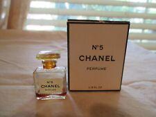 RARE CHANEL NO. 5 Mini Miniature Bottle EMPTY 1/8 Fl Oz w/ Box VTG Sample Size