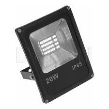 20W SMD Outdoor LED Flood Light 6000K Daylight IP66 Black Waterproof