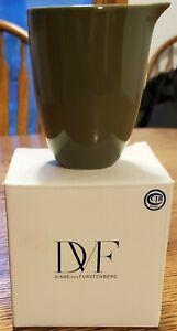 """Diane von Furstenberg DVF creamer pitcher Pebblestone Avocado Green 4"""""""