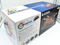 Vitrina miniaturas USB LED Vehículos de Juguete Auto Escala 1:18 Coche Modelo