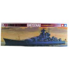Modelo de barco alemán enemigos Gneisenau de Tamiya Set (escala 1:700) 77520 Nuevo