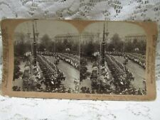 """Antique Vintage Griffith & Griffith Stereo View Card - """"German Huzzars"""""""