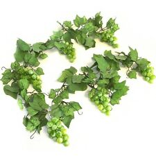 Artificial Green Grape Vine Garland - 180cm - Decorative Plastic Fake Fruit