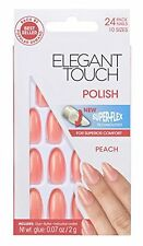 Elegant Touch Polished Nails Peach Orange Coral False NEW