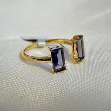 1.40ct Natural Iolite Gold Split Band Ring