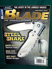 BLADE 1/2007~MINI COBRA FLIPPER~COLD STEEL VOYAGER~SPYDERCO MANIX~EMERSON STUBBY