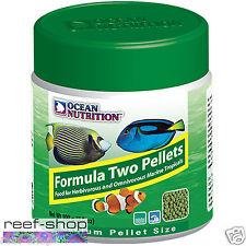 Fish Food Pellets Ocean Nutrition Formula Two MEDIUM 100 gram FREE USA SHIPPING