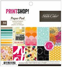 "American Crafts 6"" x 6"" Paper Pad ~ Studio Calico ~ PRINTSHOP! ~ 36ct  ~331754"