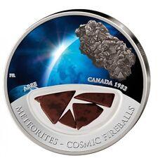 2012  Meteorites Cosmic Fireballs Pure Silver Coin Mintage 999 Canada