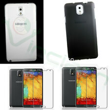 2X pellicola + 2x Custodia 0,3mm BIANCA+NERA per Samsung Galaxy Note 3 N9005