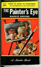 THE PAINTER'S EYE by Grosser, rare US art and artists paintings pulp vintage pb