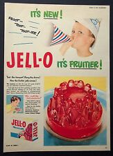 JELL-O - Bird's Jelly - Vintage Colour Magazine Advert (October 17, 1953) *