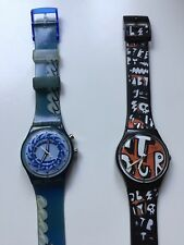 Swatch Swiss Made plastic case comics funny dial used as is kids teens couple