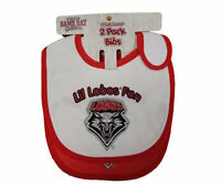 New Mexico Lobos Bibs Infant Baby Bib 2 Piece Set Team Colors