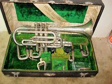 "Henri Gautier ""Virtuoso"" Silverplate Cornet"