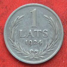 Letonia 1 lats 1924-Plata