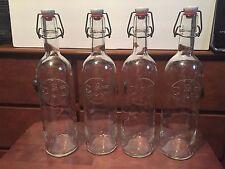 "360 Vodka Bottle  Glass with Bale Stopper Self-Stopper 12 3/4"" EMPTY"