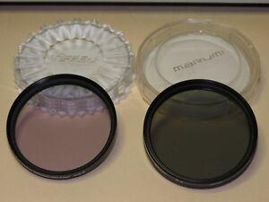 62mm lens fliters- TIFFEN enhancing and PROMASTER circular polarizer