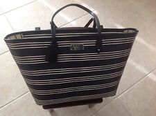 New with tags LAUREN Ralph Bridgefoot Classic Tote Black Vanilla Polo Bag Carry