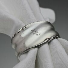 Karl Hohmann: Serviettenring oval aus Silber, Monogramm Gravur EK Initiale E K