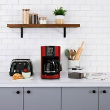 Mr. Coffee 12 Cup Automatic Drip Coffee Maker, Black/Red