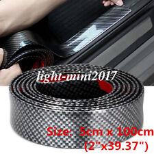 Parts Accessories Carbon Fiber Vinyl Sticker Car Door Sill Scuff Plate Protector Fits Isuzu