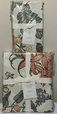Pottery Barn Karina Reversible Floral Cotton Duvet Cover, Full/Queen + Euro Sham