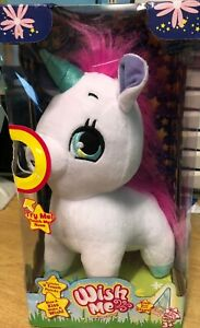 WISH ME WISH UPON A GLOW PINK AND WHITE UNICORN 4 TOUCH POINTS NEW BOX DAMAGED