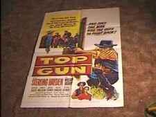 TOP GUN MOVIE POSTER '55 STERLING HAYDEN WESTERN