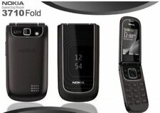 original Nokia 3710 fold black 3G Ms flip phone free shipping