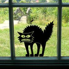 Spooky Black Cat Scary Voiture / Vélo / Fenêtre / Mur / ordinateur portable Autocollant Autocollant Vinyle Halloween
