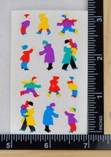 Mrs Grossman HOLIDAY SHOPPERS Stickers 1/2 SHEET CHRISTMAS SHOPPING PEOPLE NEW