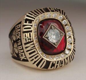 Isiah Thomas Detroit Pistons 1990 Championship Brass Gold Ring