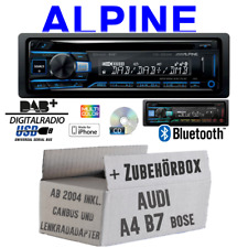 Alpine Radio für Audi A4 B7| Bluetooth DAB+ CD/USB/MP3 Apple Android - Einbauset