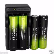4 x Skywolfeye 5800mAh 3.7V Li-ion 18650 Rechargeable Battery   1 x Dual Charger
