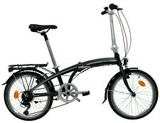 "Aluminium Folding Bike - 20"" Wheels, Mudguard, Kickstand& Rear Carrier"
