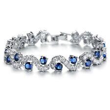 4.5 Carat TDW Treated Blue & White Diamond Bracelet