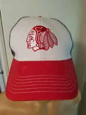 Chicago Blackhawks Trucker Hat Cap Red White Gray NHL Hockey AMG