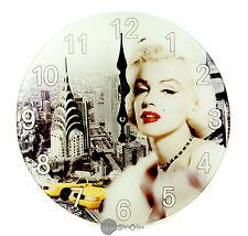 Glass Analogue Contemporary Wall Clocks