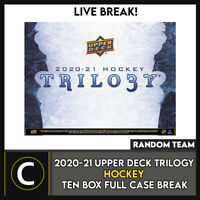 2020-21 UPPER DECK TRILOGY HOCKEY 10 BOX FULL CASE BREAK #H1078 - RANDOM TEAMS