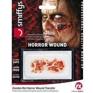 3D Zombie Rotten Skin Halloween Prosthetic Professional Realistic