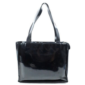 CHANEL Tote Bag logo enamel black