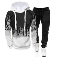 Men's Tracksuit Jogging hoodie Coat Jacket Trousers Pants Sports Sweat Suit Set