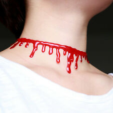 New Hot Women Necklace Red Simulation Bleeding Collar Halloween Horror Necklaces