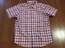 Patagonia Organic Cotton Mens Red & White Plaid Short-Sleeve Shirt. Size M