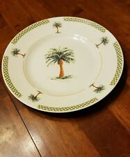 Gibson Everyday BAHAMAS Palm Tree Dinner Plate 11 1/4""
