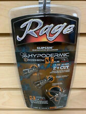 """New Rage Hypodermic NC Crossbow 100 Gr  2"""" + Cut Broadheads Auth/ Dealer R38200"""