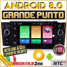 AUTORADIO Android 8.0 OctaCore 4gb 32GBgb FIAT Grande PUNTO MP3 Navigatore MA...