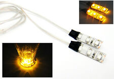 2x Amber 3 SMD LED Light Strip 12V Car Courtesy Signal Yellow Side Marker Module