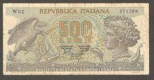 500 lire ARETUSA serie speciale sostitutiva W02 decreto 1966 rarissima BB rara
